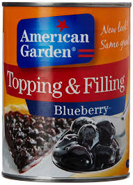 BLUEBERRY  FILLING -AMERICAN GARDEN - 595GMS