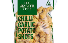 CHILLI GARLIC POTATO SHOTS - ITC  - 1.5KG