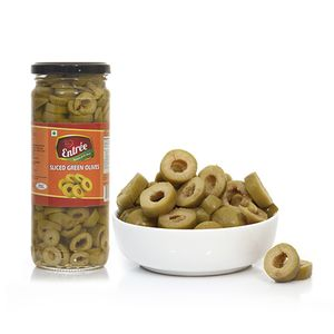 green olives sliced