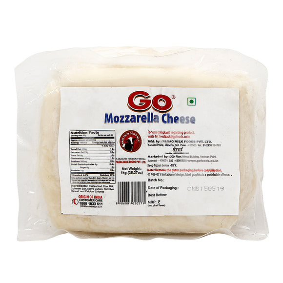 MOZZARELLA CHEESE BLOCK - GO - 1KG