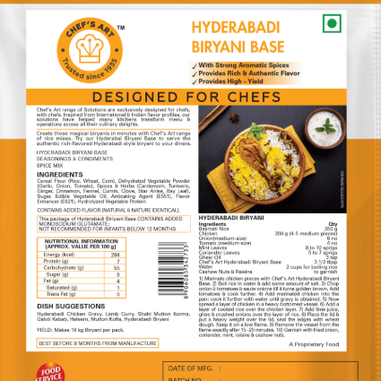 HYDERABADI BIRYANI GRAVY BASE - CHEFS ART - 500GM