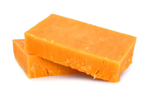 CHEDDAR NATURAL COLOURED BlOCK ORANGE-SONAI DAIRY-1kg