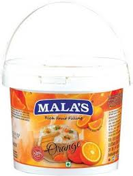 ORANGE   FRUIT FILLING - MALAS - 1KG