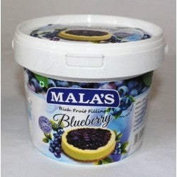BLUEBERRY FRUIT FILLING - MALAS - 1KG