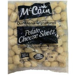 POTATO CHEESE SHOTZ   MCCAIN - 1KG