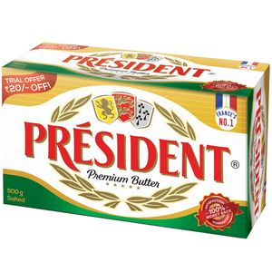 BUTTER SALTED - PRESIDENT- 500GMS