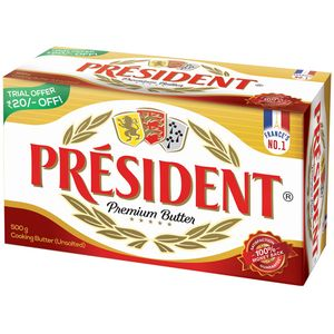 BUTTER UNSALTED - PRESIDENT- 500GMS