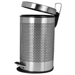 STEEL ROUND DUST BIN WITH PEDAL - 8 X 12