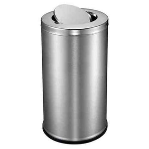 STEEL ROUND DUST BIN WITH SWING - 14 X 28
