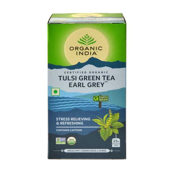 TULASI EARLY GREY - 25 TEA BAGS - ORGANIC INDIA
