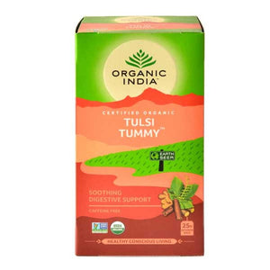 TULASI TUMMY - 25 TEA BAGS - ORGANIC INDIA