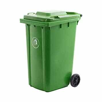 UTILITY DUST BIN WITH TROLLY WHEELS - 240Ltrs