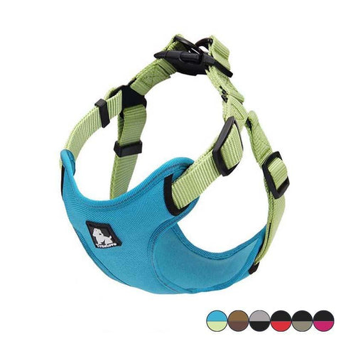 Reflective and adjustable dog harness