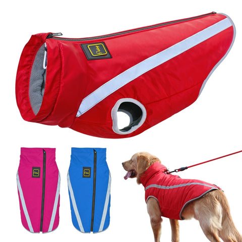 Winter reflective and waterproof dog vest