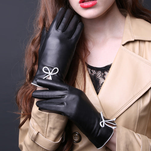 Cuir Mademoiselle Genuine Leather Gloves