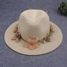 Load image into Gallery viewer, Summer women's flower straw hat