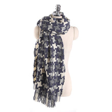 Load image into Gallery viewer, Maxi Houndstooth Winter Scarf -women
