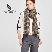 Load image into Gallery viewer, Houndstooth Winter Warm Scarf - women