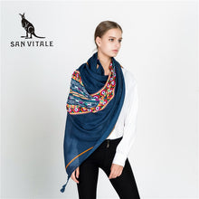 Load image into Gallery viewer, Navy Blue Light Women's Scarf