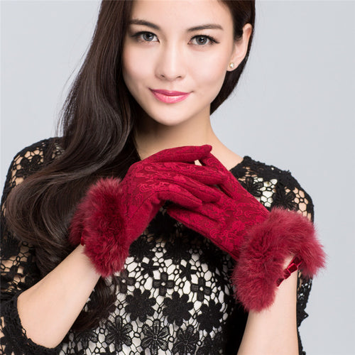 Wool Knitted Winter Gloves | Touch Screen