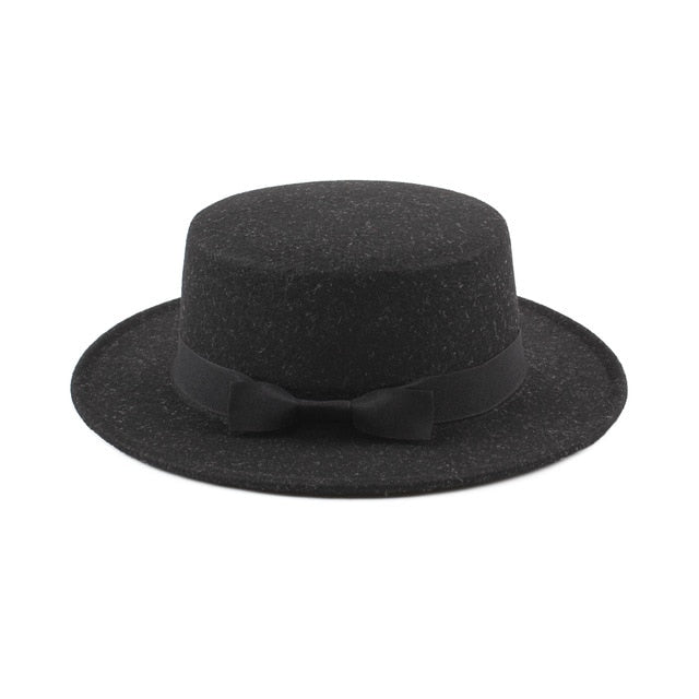 Vintage women's fedora hat with ribbon