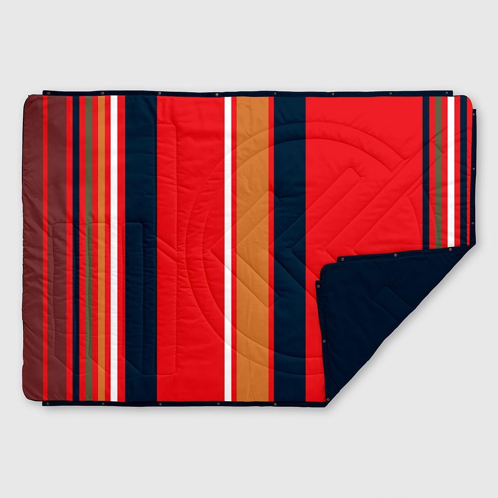 RECYCLED RIPSTOP OUTDOOR CAMPING BLANKET BASE STRIPE