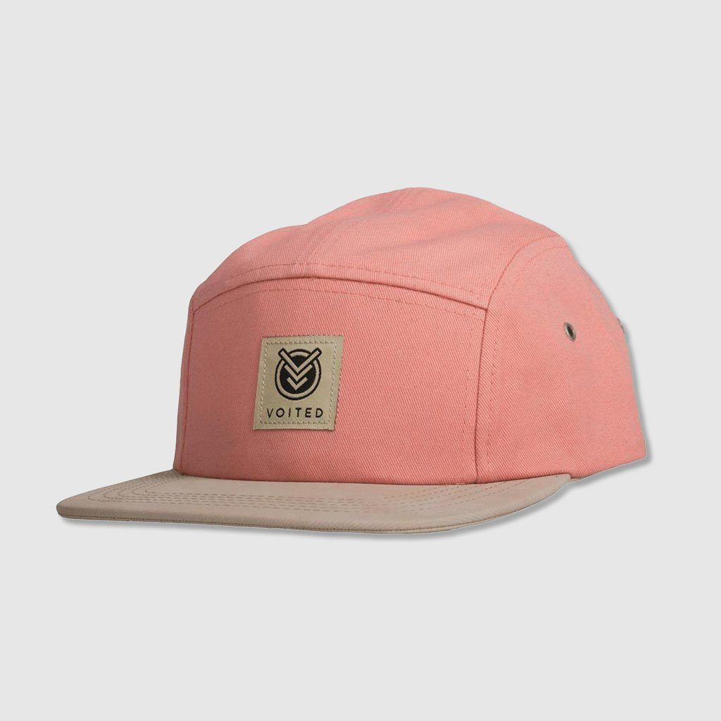 Camper 5 Panel Cap - Salmon