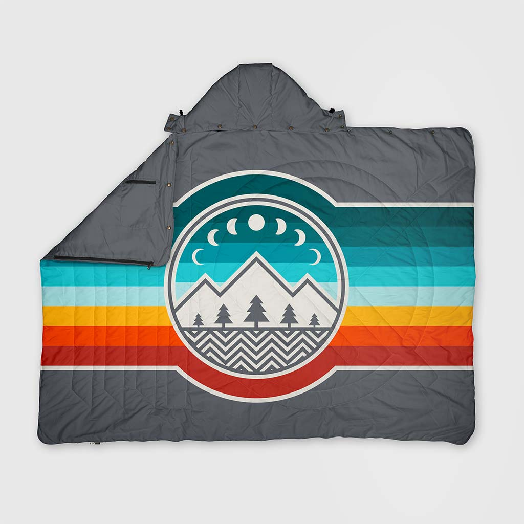 RECYCLED RIPSTOP TRAVEL BLANKET CAMP VIBES