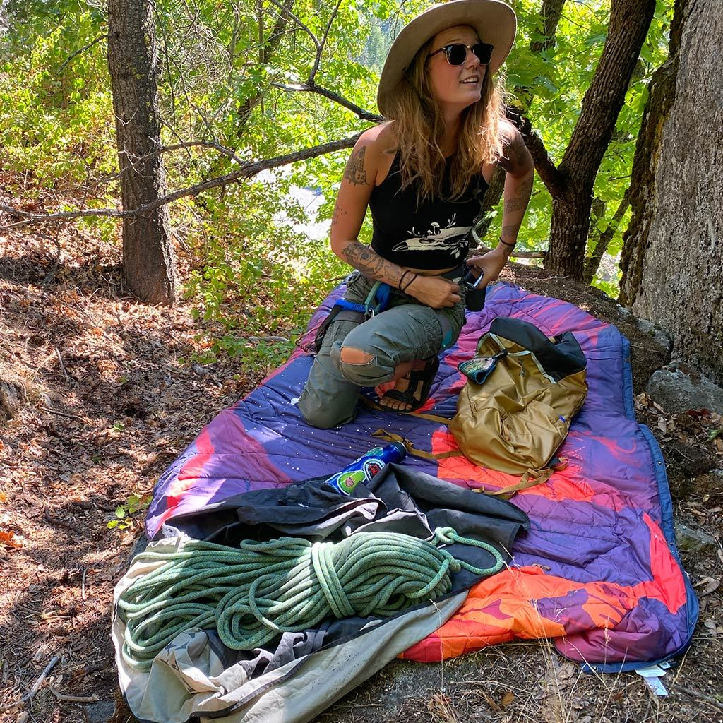 RECYCLED RIPSTOP OUTDOOR CAMPING BLANKET SAVE OUR LANDS NIGHT