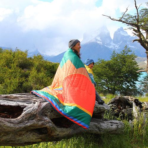 RECYCLED RIPSTOP OUTDOOR CAMPING BLANKET HARVEST MOON