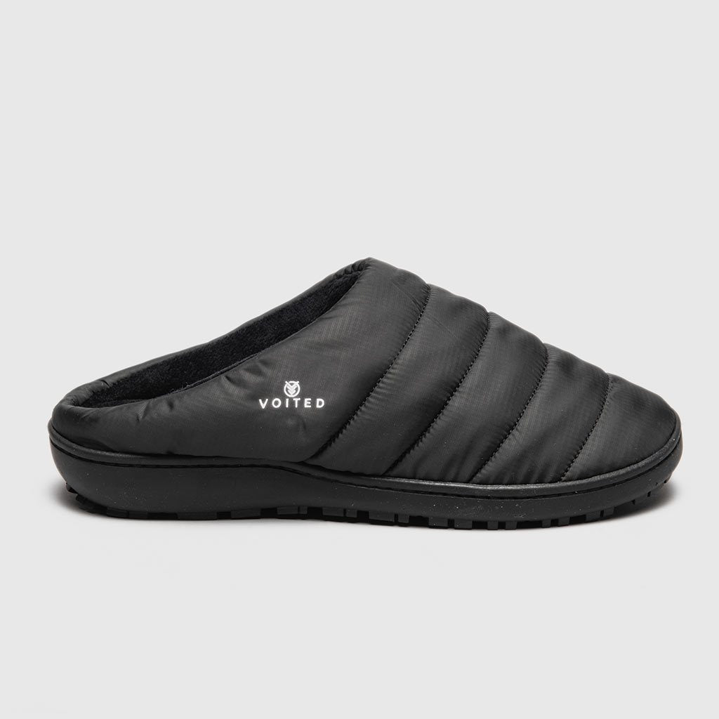 VOITED SOUL SLIPPER - LIGHTWEIGHT, INDOOR/OUTDOOR CAMPING SLIPPERS BLACK