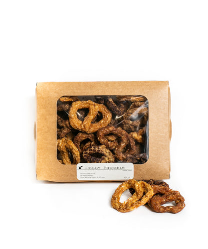 Doggy Three-Meat Pretzels, 6-oz box