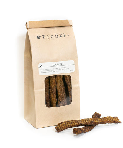 LAMB SAUSAGES - HEALTHY DOG TREATS BY DOGDELI