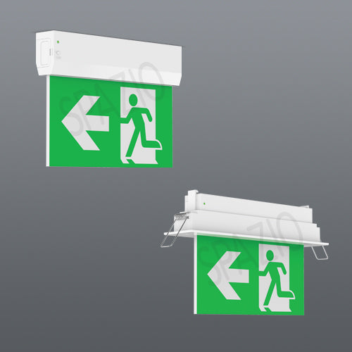 EMERGENCY EXIT SIGN-SURFACE MOUNT