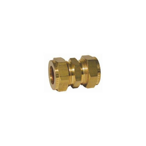 "Compression Fitting Straight Coupling 3/8"" to 1/2"""