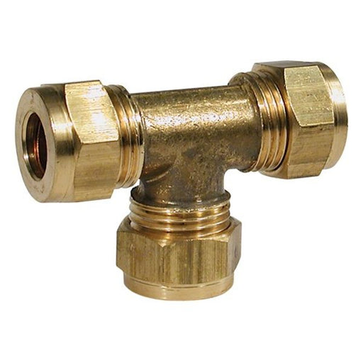 "Compression Fitting Equal Tee 3/8 x 3/8""  x 3/8"""
