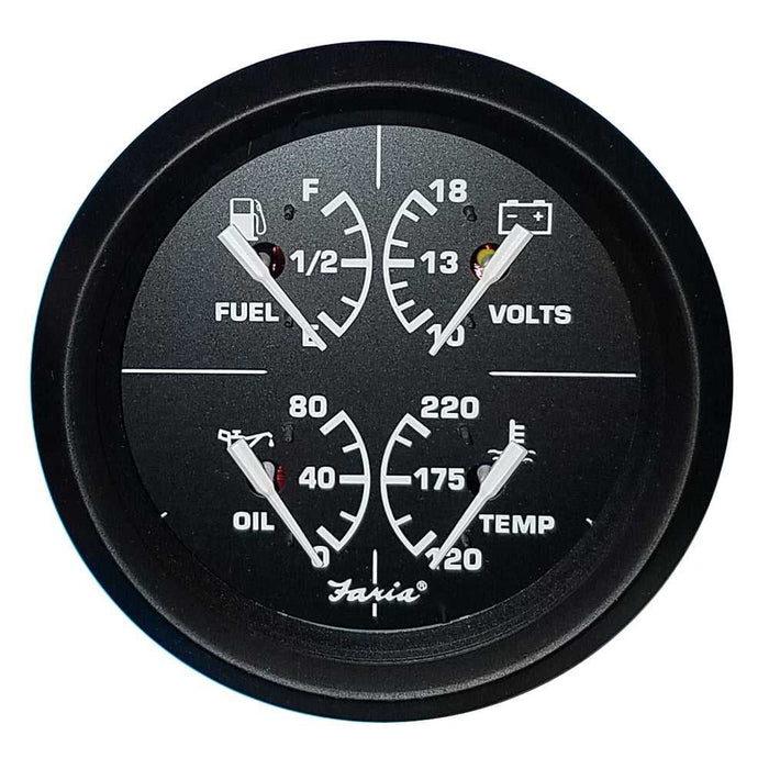 Multi function marine gauge oil water temp fuel
