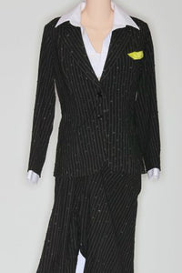 Pinstripe Tear Away Suit - Pantsuit by Randall Designs