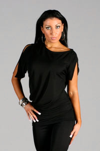 Ladies Tunic Dance Top with Split Sleeves - RT-8 - Shirt by Randall Designs