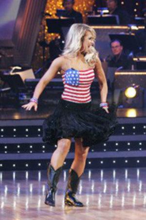 U.S. Flag Bodice w/ Black Crinoline Skirt - Dress by Randall Designs