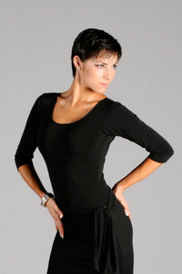 Ladies Scoop Neck Dance Bodysuit with 3/4 Length Sleeves - BS01 - Shirt by Randall Designs