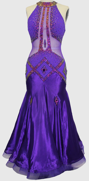 Purple Art Deco Ballgown - Dress by Randall Designs