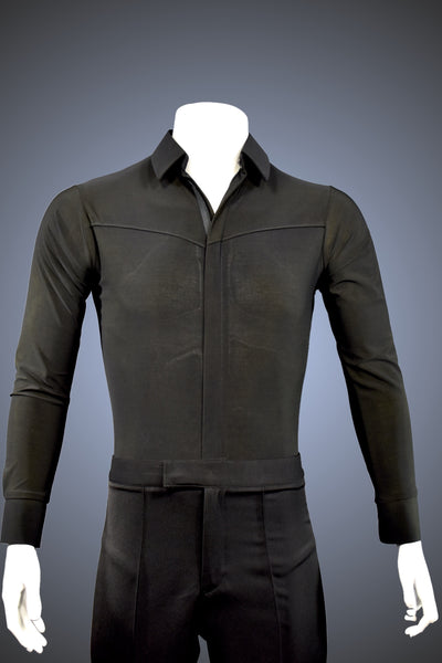 Men's Latin, Rhythm, Smooth Dance Shirt with Front and Back Yoke - GS03 - Shirt by Randall Ready