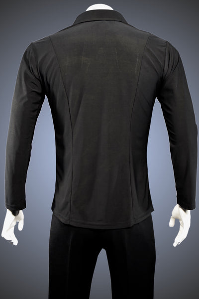 Men's Collared Latin/Rhythm Shirt with Front Zipper and Side Slits - GS03 - Shirt by Randall Ready
