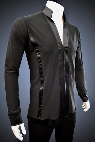 Mandarin Collar Latin/Rhythm with Satin Trim - GS200 - Shirt by Randall Ready