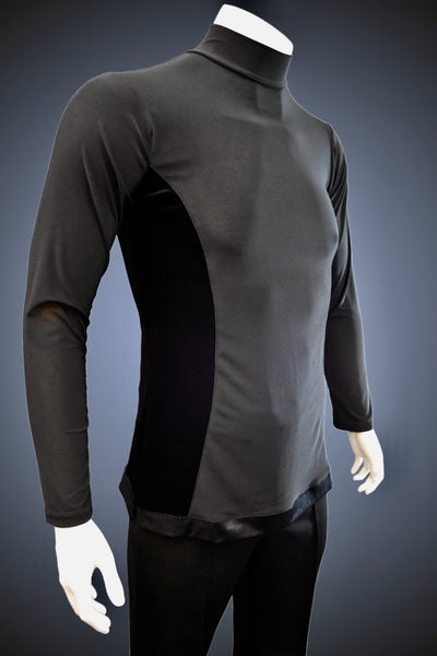Turtleneck Latin/Rhythm Shirt with Velvet Side Trim - GS300 - Shirt by Randall Ready