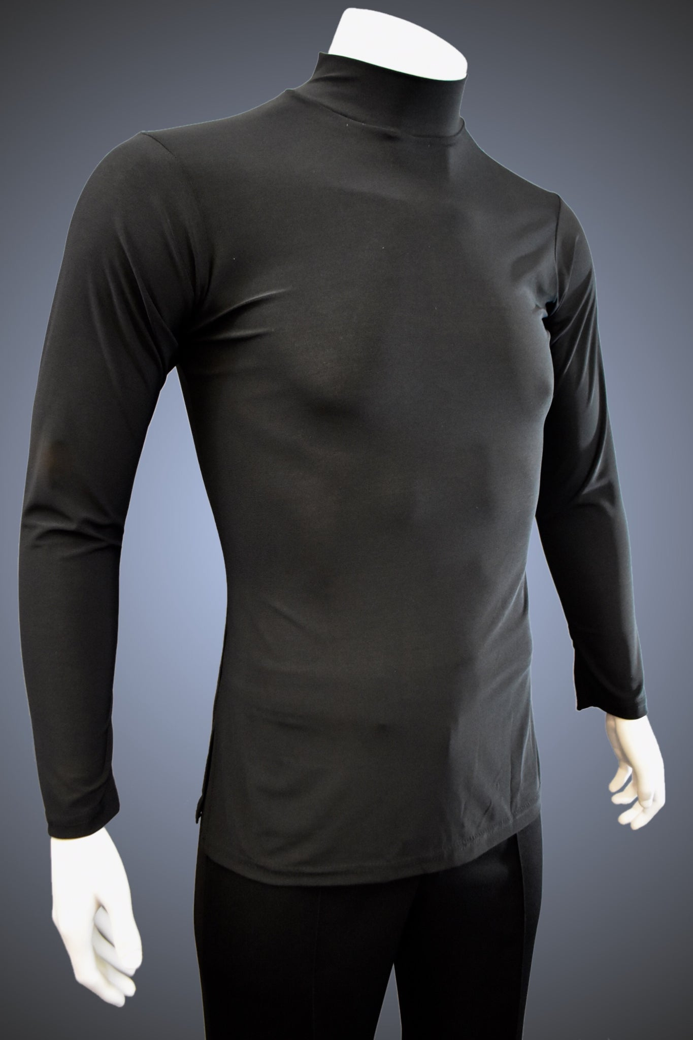 Turtleneck Latin/Rhythm Shirt with Side Slits - GS302 - Shirt by Randall Ready