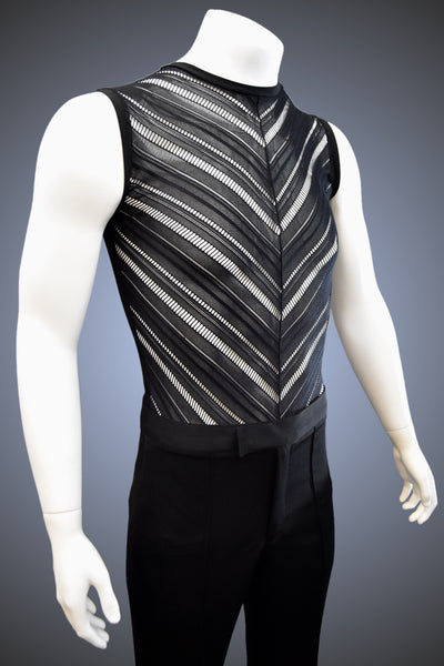 Crew Neck Chevron Muscle Shirt for Latin/Rhythm - GS501 - Shirt by Randall Ready
