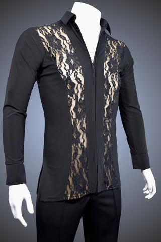 Men's Latin/Rhythm Shirt with Lace Panels - GS60 - Shirt by Randall Ready