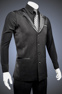 Men's Sleeveless Smooth Jacket with Satin Lapels - JK100 - Jacket by Randall Ready